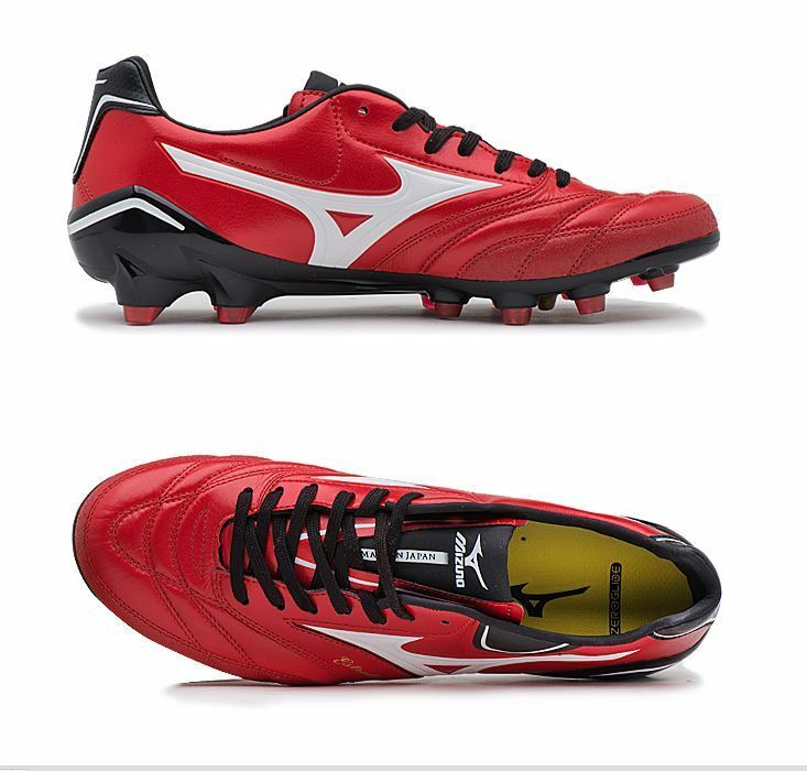 Mizuno ESTRELA NEO 2 rosso Soccer Football Cleats scarpe stivali Spike Dimensione 68 JAPAN