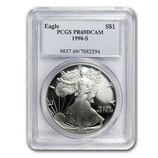 1990-S Proof Silver American Eagle Coin - PR-69 DCAM PCGS