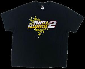 Kurt-Busch-2-XXL-Men-039-s-T-Shirt-Miller-Lite-Racing-Fluid-Motion-Graphic-Tee