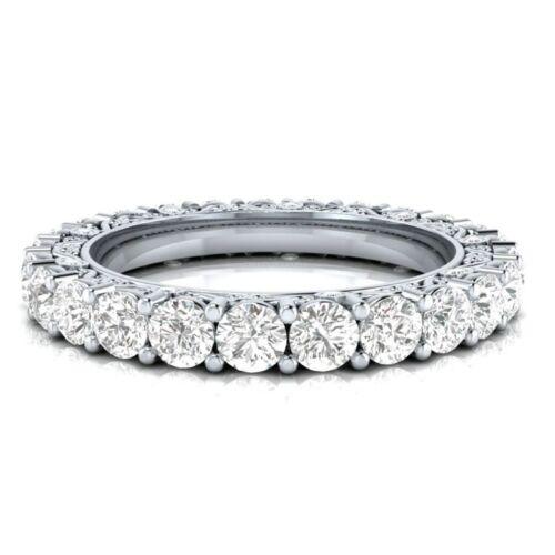 Elegant Femme Round Cut blanc saphir argent 925 fête de mariage Anneau Taille 6-10