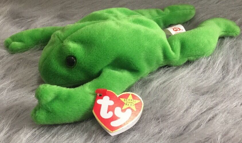 Rare Legs The Frog Beanie Baby 1993 Errors AUTHENTIC  PVC Pellets Mint