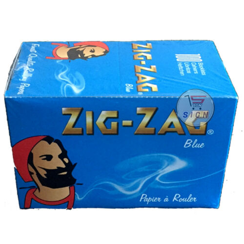 25 BLUE, RED, GREEN ZIG-ZAG SMOKING ROLLING PAPERS A ROULER 50 /& 100 BOOKLETS
