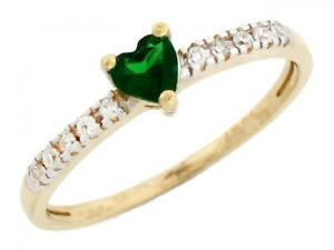 10k-or-14k-Two-Tone-Gold-May-Birthstone-Simulated-Emerald-Heart-Ring-with-Detail