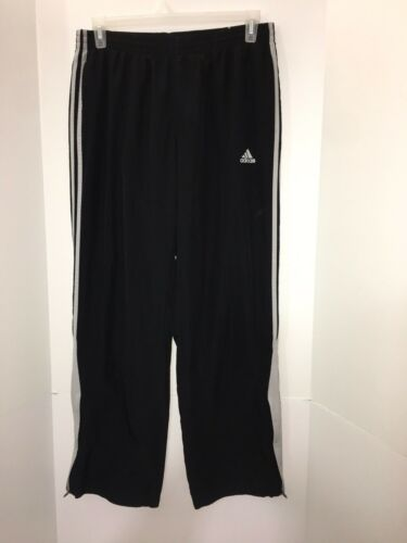 Pants Cremallera Vintage Black Track Adidas Windbreaker Large 90s Stripe Pierna 3 White qq1zvw6