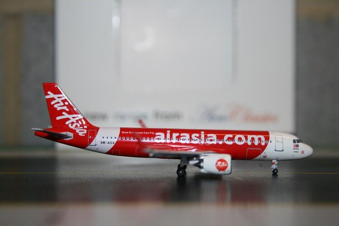 Aeroclassics 1 400 Air Asia Airbus A320neo 9M-AGA (AC9MAGA) Die-Cast Model Plane