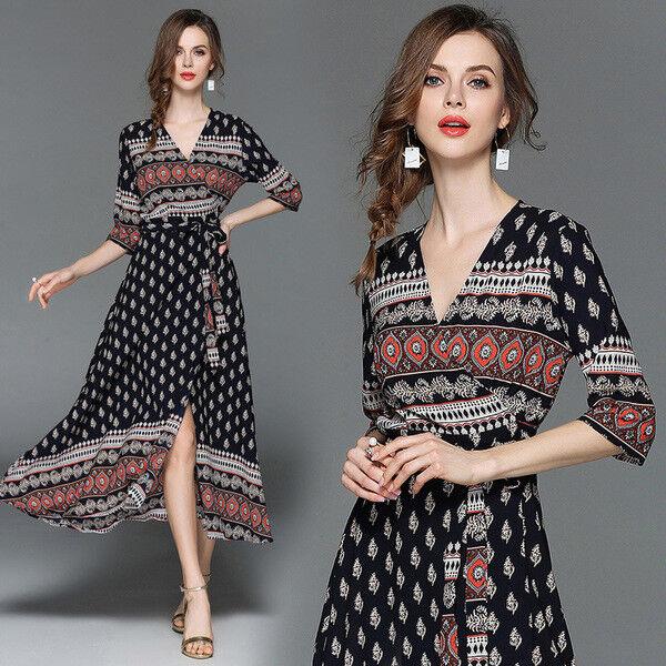 1cce8aae9d74b7 Kleid kurz kleid élégant bunt mode hülle 4814 blau schaukel ...