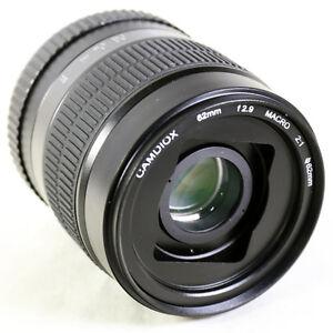 camdiox 62mm 2 1 ultra macro manual focus lens for nikon f mount rh ebay co uk Macro Photography nikon micro 105mm f/4.0 ai manual focus macro lens