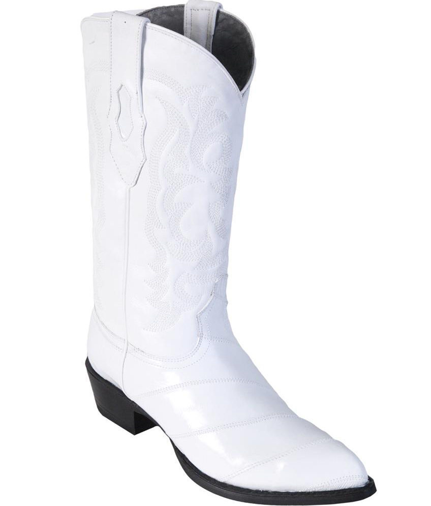 LOS ALTOS Hombres blancoo Original Bota de vaquero occidental Anguila J-Toe (extra grande) 990828
