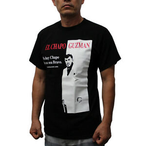 Chapo joaquin guzman scarface graphic t shirt ebay for Chapo guzman shirt brand