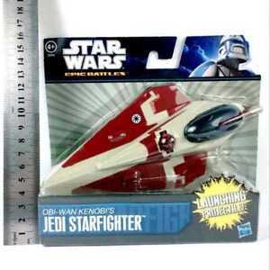 NEW-STAR-WARS-Epic-Battles-Hasbro-7-034-OBI-WAN-KENOBI-JEDI-STARFIGHTER-VEHICLE