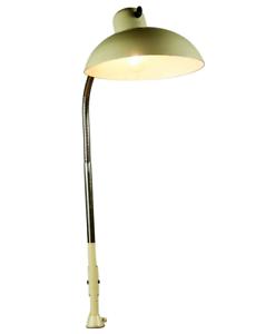 SIS-Tisch-Klemm-Leuchte-Arbeits-Lampe-Schwanenhals-Tischklemme-Bauhaus-50erJahre