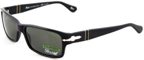 RARE POLARIZED Genuine PERSOL Black Crystal Polar Green Sunglasses PO 2803 95//58