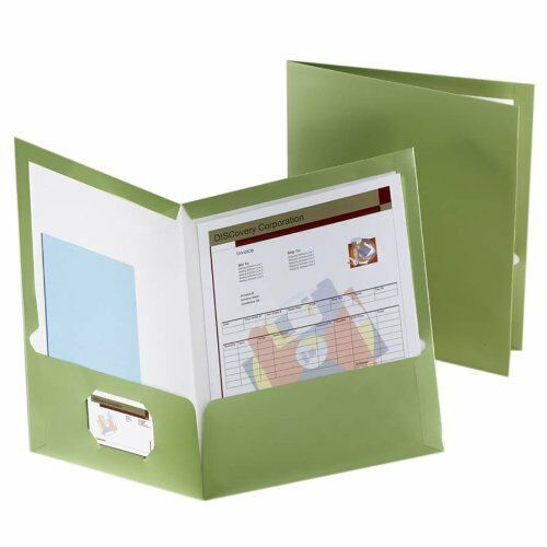 "Esselte Metallic Two Pocket Folder Letter 150 Sheet Capacity 8.50/"" X 11/"""