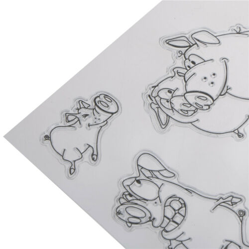 DIY Cute Pig Craft Transparent Clear Stamp for DIY Scrapbooking Card 2018 PB