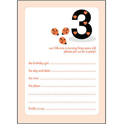 10 Childrens Birthday Party Invitations 3 Years Old Girl