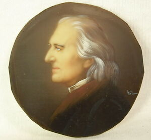 Profile-of-Franz-Liszt-Composer-Pianist-Miniature-Signed-Hill-Painting-C-1900
