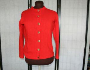del brillante Euc maglione cashmere Scozia fatto in rosso Bello cardigan tvgqIw