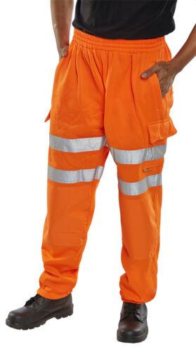 Bseen Alta Visibilidad Naranja Pantalones Deportivos Pantalones cargo Pantalones De Trabajo Ferrocarril Gort