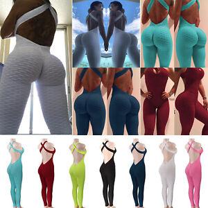 Women-039-s-Sport-Yoga-Gym-Athletic-Suit-Fitness-Workout-Bandage-Jumpsuit-Bodysuits