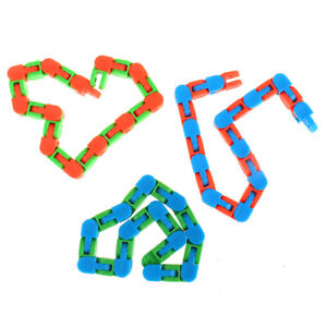 Wacky Tracks Snap and Click Toys Kids Autism Snake Puzzles Classic Sensory To Jf