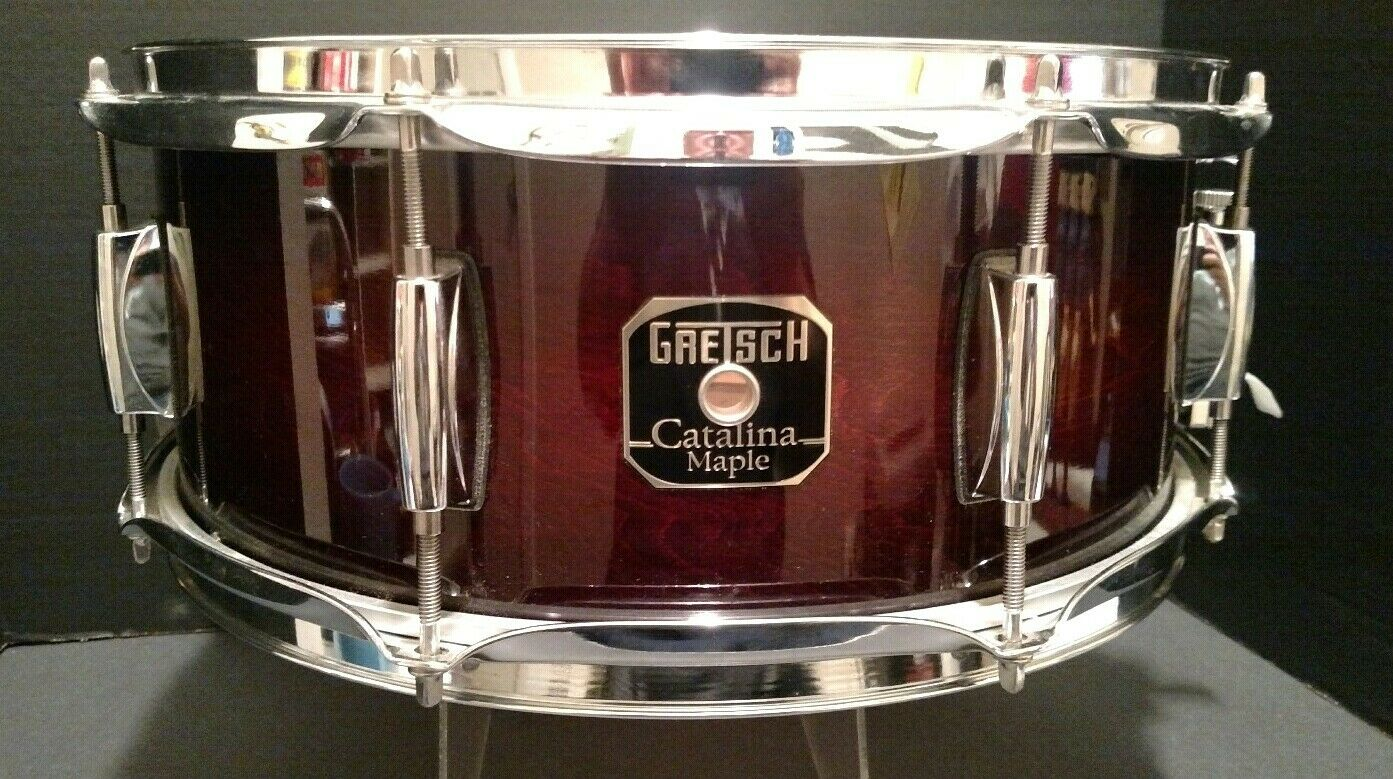 Gretsch Catalina Maple Snare Drum 14 x 6 Cherry Burst Finish BEAUTIFUL