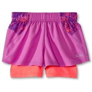 11fb3ea9ca Details about C9 Champion® Girls' Layered Shorts Magenta Quartz Size XS 4-5  NEW