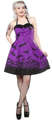SOURPUSS SPOOKSVILLE BATS PURPLE 50S ROCKABILLY PSYCHOBILLY GHOUL DRESS S-XXL
