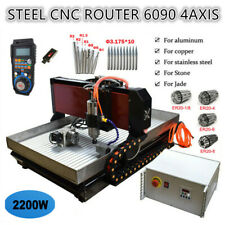 Steel Cnc Router 6090 4axis 2200w Mach3 Engraver Cutting Machine For Steel Brass