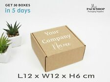 Cardboard Box Packaging Supplier Small Square Kraft Gift Boxes Lids Wholesale