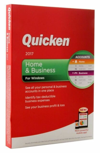 Quicken Home And Business 2017 For Windows Full Version For Sale Online Ebay