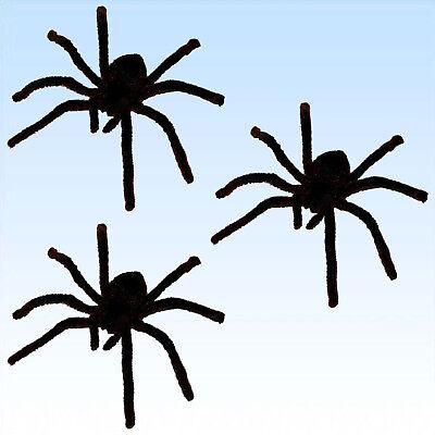 3 große haarige Spinne Dekoration Spinnen Spiders zum