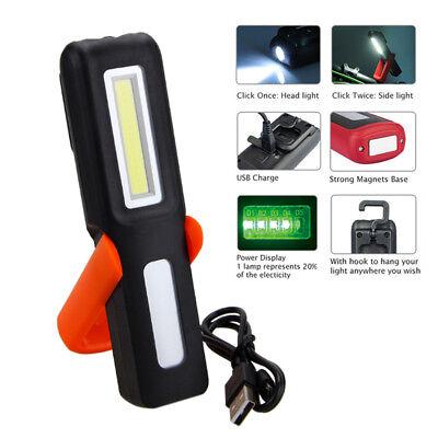 LED Magnetische Taschenlampe USB Wiederaufladbare COB Arbeitslicht Inspektion