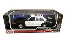 2001 Ford Crown Victoria LAPD Interceptor Diecast Police Car 1:18 Motormax 10in
