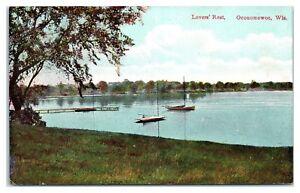 Early-1900s-Lover-039-s-Rest-Oconomowoc-WI-Postcard