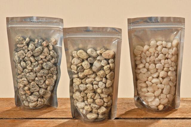 Dekosteine Ziersteine Zierkies Dekokies 0,5 - 2 cm, 450 g, weiß grau natur NEU