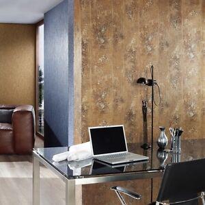 vlies tapete beton optik stein wand struktur gold braun ocker metallic ebay. Black Bedroom Furniture Sets. Home Design Ideas