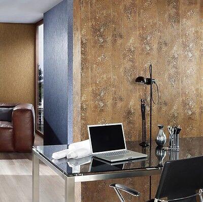 betonoptik wand vlies tapete beton optik stein struktur gold braun ocker metallic selber machen