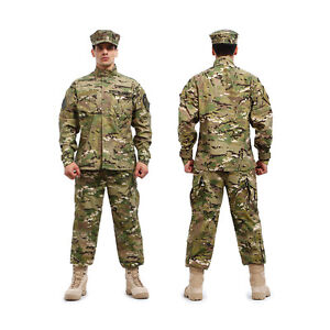 New-Multicam-Painball-Military-Camo-Camouflage-Airsoft-Uniform-Sets-Jacket-Pant
