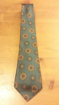 "Vintage, Park Avenue, Silk, Green/Gold, Ancient Madder, Skinny Neck Tie (55.5"")"