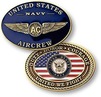 NEW U.S. Navy Aircrew - Enamel Challenge Coin. 60116.