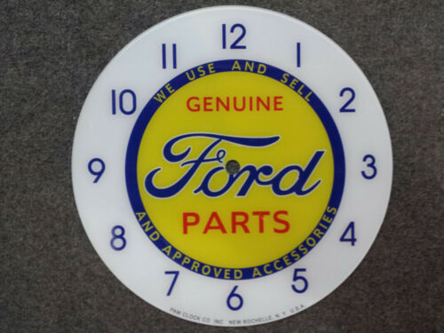 """*NEW*14.25/"""" FORD PARTS TRUCK HOTROD ROUND GLASS FACE FOR PAM CLOCK"""