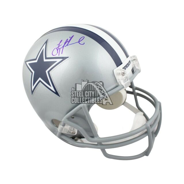 finest selection 16acb c08ac Troy Aikman Autographed Dallas Cowboys Full-Size Football Helmet - BAS COA