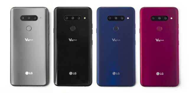 LG V40 ThinQ 64GB AT&T Verizon Sprint Straight Talk T-Mobile Unlocked Phone  -New