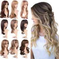 Highlight Style Ladies Full Wig Long Straight Natural Daily Wigs Black Blonde Us