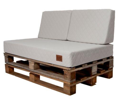 LUXUS Sitzauflage,Palettenkissen,Eco Leder Gesteppt Gartensofa