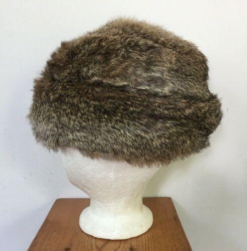 1950s Darling Fur Hat Vintage 50s Small Soft Brown Rabbit Fur Beret Cap From I Magnin