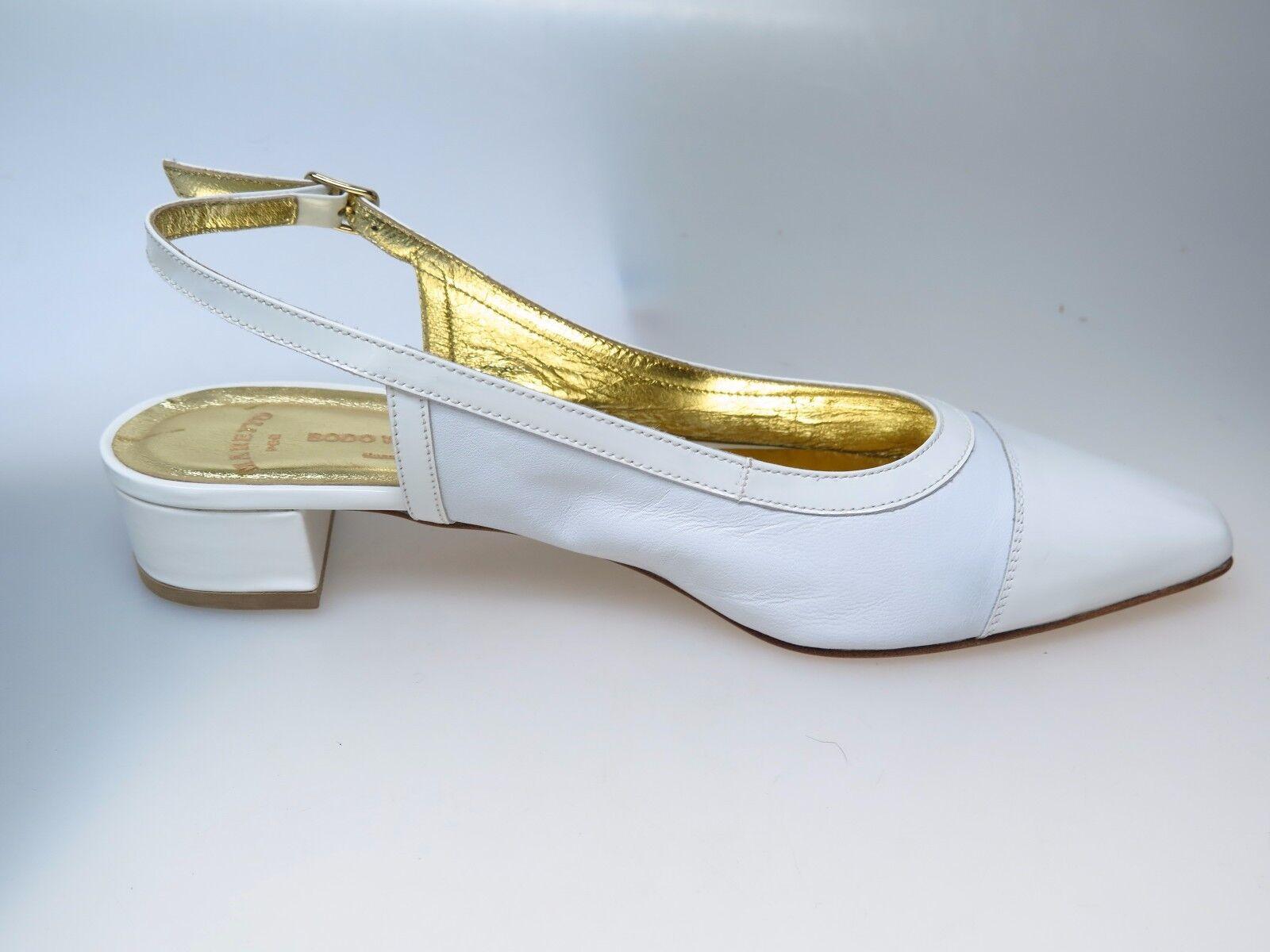 MARETTO  Designer Damenschuhe Bianco 6955 Gina Nappa Vernice Bianco Damenschuhe Gr. 40,5 NEU 3f265a