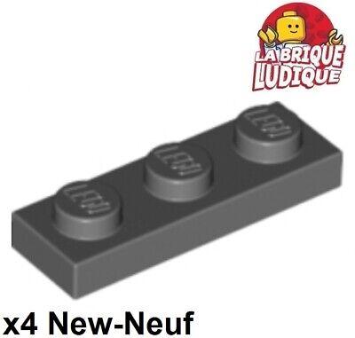 4211133 lego plaque 1 x 3 gris foncé 10 pièces