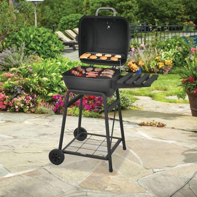 "Backyard Charcoal Grill backyard grill 26 "" mini barrel charcoal | ebay"