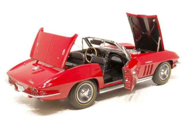 Corvette 1965 Chevy Chevrolet Built Vette 1 Sport Race Car Vintage 24 Model 12